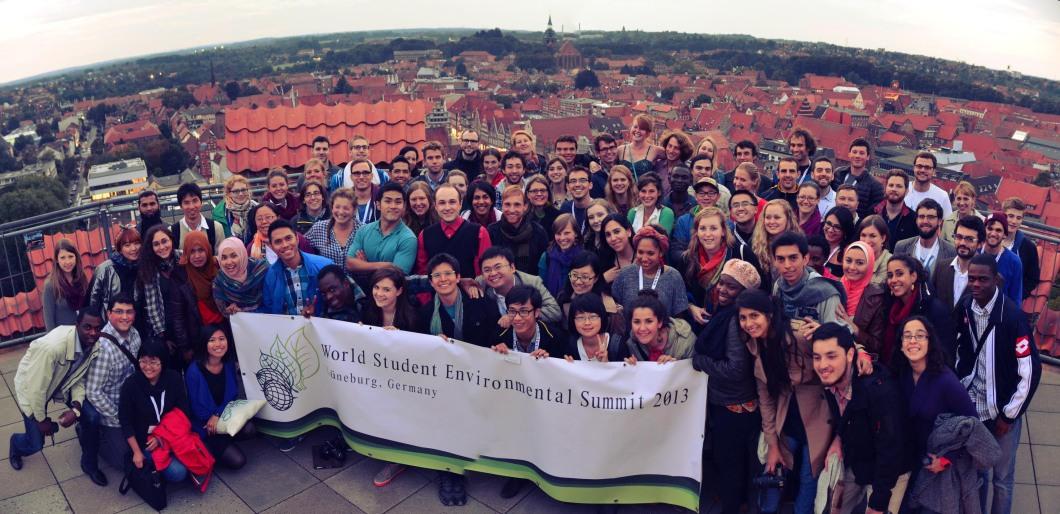 Delegados del World Student Environmental Summit 2013