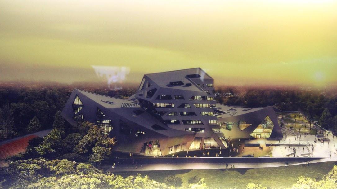Construcción sostenible en proceso, en la Universidad de Leuphana