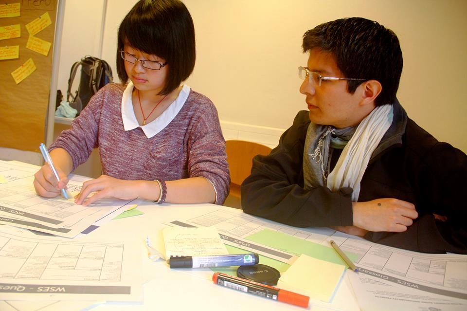 Jair Santillán en la Cumbre Mundial de estudiantes de Medio Ambiente 2013. en Alemania.