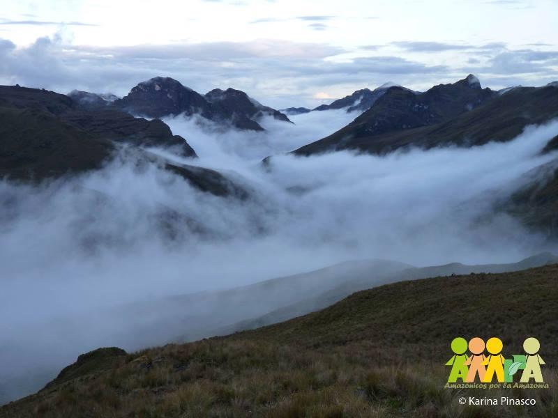 Páramos con nubes en la Concesión para la Conservación Alto Huayabamba. (Foto: Karina Pinasco).