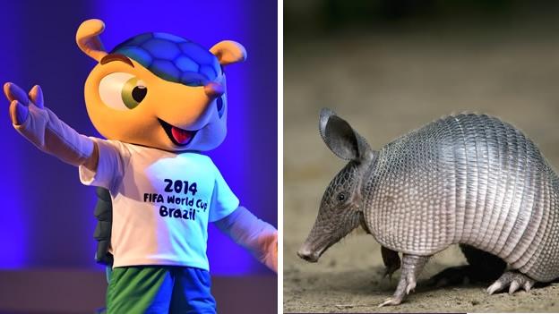 'Fuleco' es la mascota de Brasil 2014, un armadillo de tres bandas que está bajo amenaza de extinción (Foto: Planeta CNN).