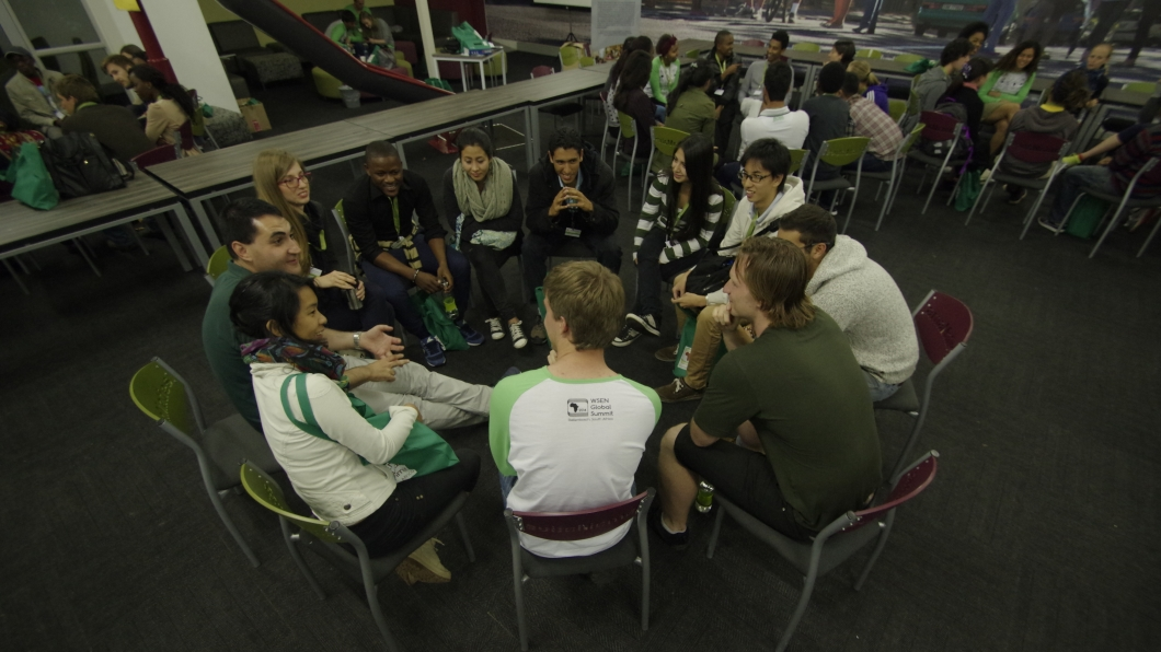 Delegados en un taller en WSEN 2014.