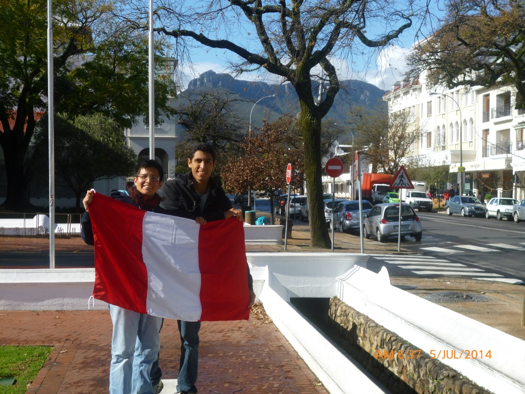 Delegación peruana en World Student Environmental Summit 2014, Sudáfrica.